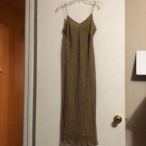 Leopard Print Spaghetti Strap Dress